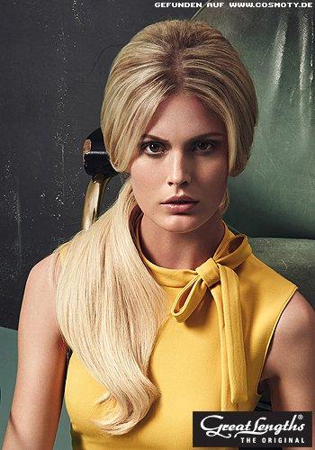Tief gebundener Zopf im Stil von Brigitte Bardot