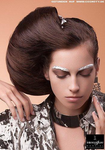 Frisuren Bilder Uppige Hochsteckfrisur Seitlich Gesteckt Frisuren