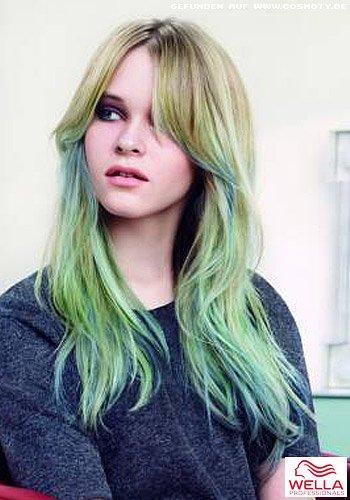 Weiche Wellen in blau-grün Färbung