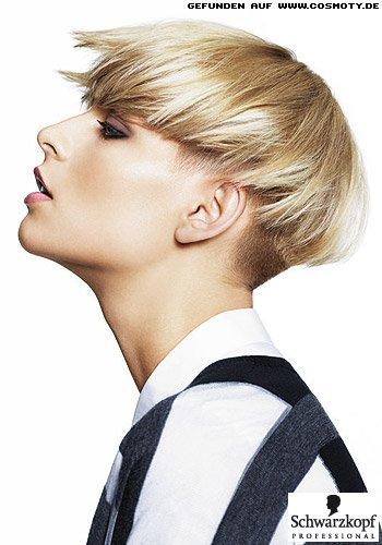 Zum Kurzbob gestylter Undercut in sonnigem Blond
