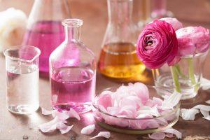 parfum fläschchen blüten
