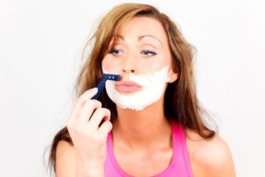 Haare Gesicht entfernen Rasur Entfernung Kinn