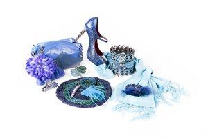 verschiedene blaue Accessoires