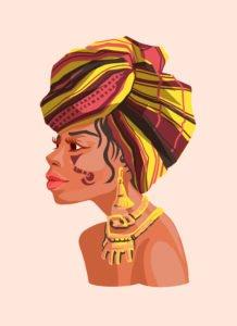ohrringe afrikanische frau
